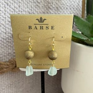 GENUINE stone earrings set from BARSE